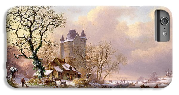 Winter Landscape With Castle IPhone 6 Plus Case by Frederick Marianus Kruseman