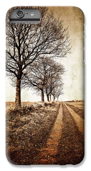 Rural Scenes iPhone 6 Plus Case - Winter Track With Trees by Meirion Matthias