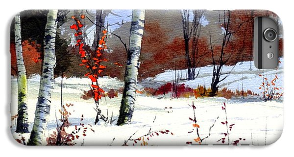 Sparrow iPhone 6 Plus Case - Wintertime Painting by Suzann's Art