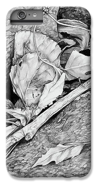 IPhone 6 Plus Case featuring the drawing Withered Leaves by Aaron Spong
