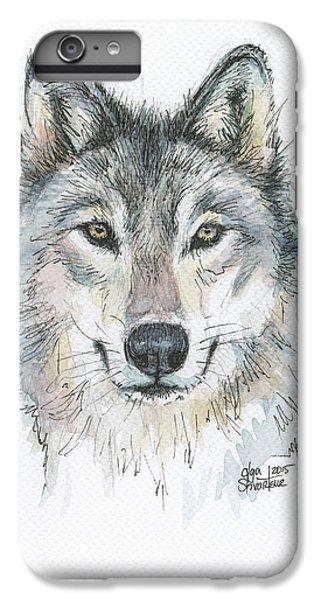 Wolves iPhone 6 Plus Case - Wolf by Olga Shvartsur