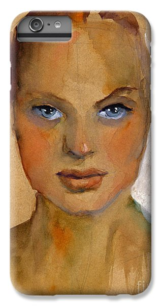 Woman Portrait Sketch IPhone 6 Plus Case by Svetlana Novikova