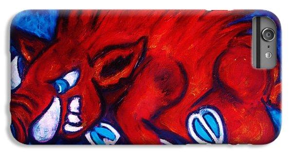 Woo Pig IPhone 6 Plus Case by Laura  Grisham