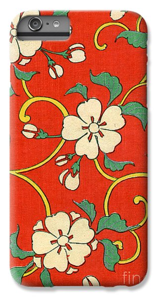 Flowers iPhone 6 Plus Case - Woodblock Print Of Apple Blossoms by Japanese School