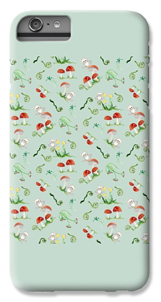 Woodland Fairy Tale - Red Mushrooms N Owls IPhone 6 Plus Case by Audrey Jeanne Roberts