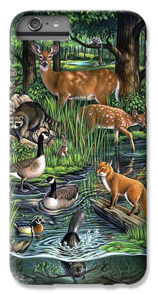 Goose iPhone 6 Plus Case - Woodland by Jerry LoFaro