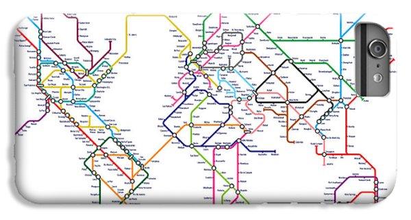 World Metro Tube Map IPhone 6 Plus Case by Michael Tompsett