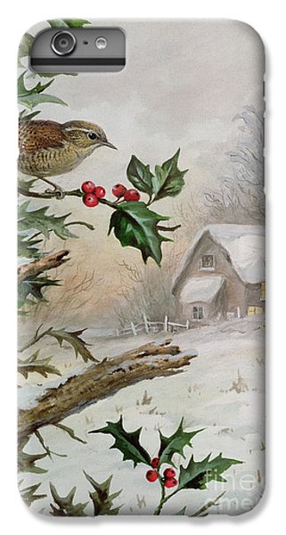 Wren In Hollybush By A Cottage IPhone 6 Plus Case by Carl Donner
