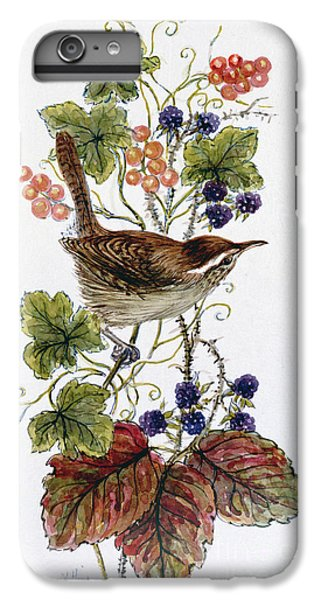 Wren On A Spray Of Berries IPhone 6 Plus Case