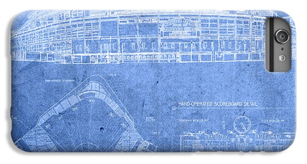 Wrigley Field Chicago Illinois Baseball Stadium Blueprints IPhone 6 Plus Case