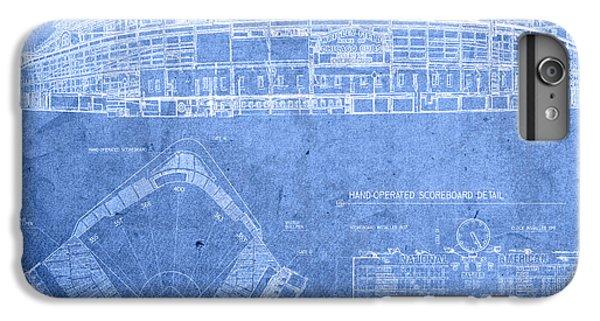 Wrigley Field Chicago Illinois Baseball Stadium Blueprints IPhone 6 Plus Case by Design Turnpike
