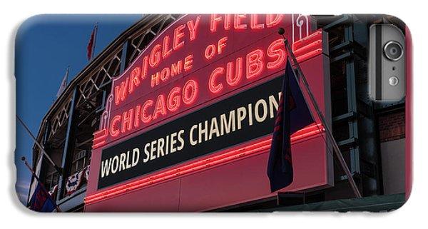 Wrigley Field World Series Marquee IPhone 6 Plus Case by Steve Gadomski