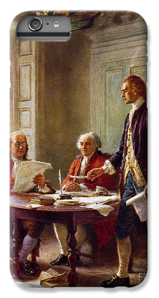 Writing The Declaration Of Independence, 1776, IPhone 6 Plus Case by Leon Gerome Ferris
