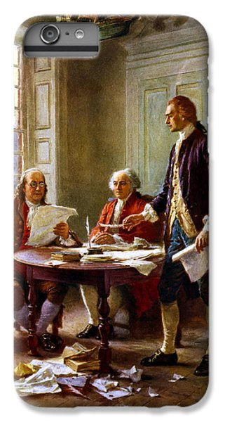 Thomas Jefferson iPhone 6 Plus Case - Writing The Declaration Of Independence by War Is Hell Store