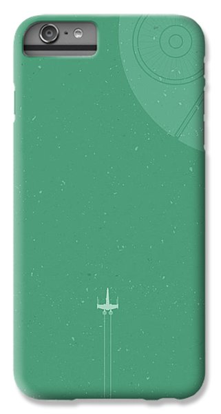 X-wing Meets Death Star IPhone 6 Plus Case by Samuel Whitton