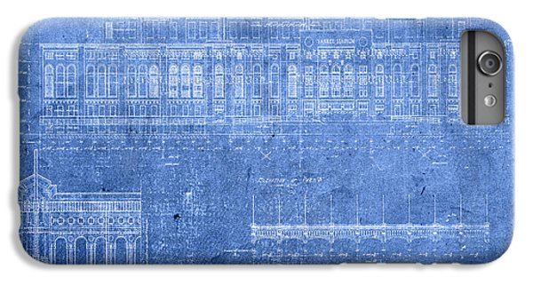 Yankee Stadium New York City Blueprints IPhone 6 Plus Case by Design Turnpike