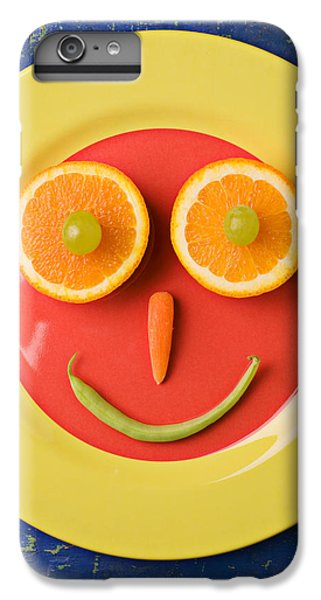 Yellow Plate With Food Face IPhone 6 Plus Case