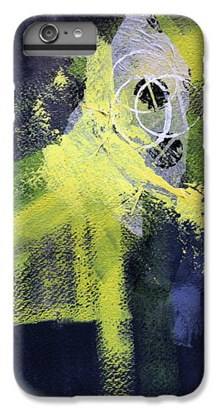 IPhone 6 Plus Case featuring the painting Yellow Splash by Nancy Merkle