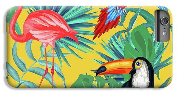 Toucan iPhone 6 Plus Case - Yellow Tropic  by Mark Ashkenazi