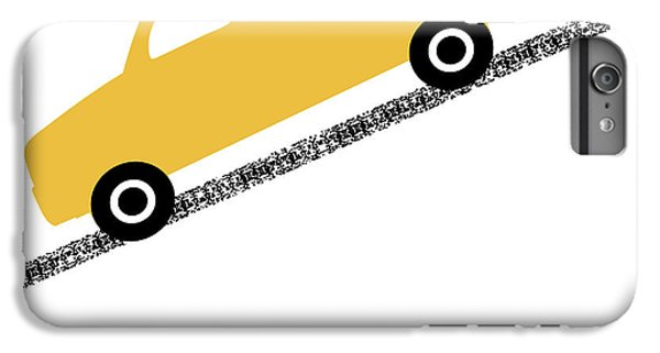 Truck iPhone 6 Plus Case - Yellow Truck On Road- Art By Linda Woods by Linda Woods