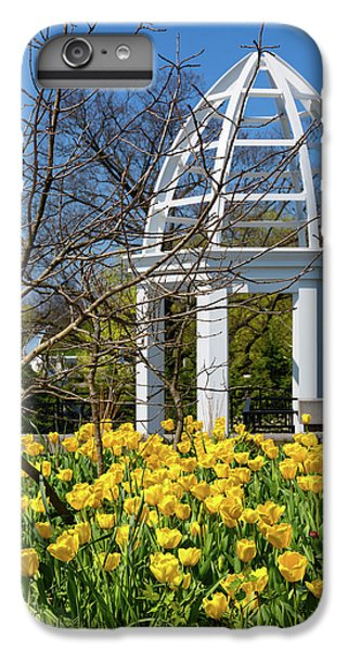 Tulip iPhone 6 Plus Case - Yellow Tulips And Gazebo by Tom Mc Nemar