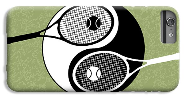 Venus Williams iPhone 6 Plus Case - Yin Yang Tennis by Carlos Vieira