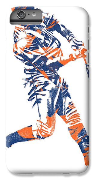 New York Mets iPhone 6 Plus Case - Yoenis Cespedes New York Mets Pixel Art 1 by Joe Hamilton