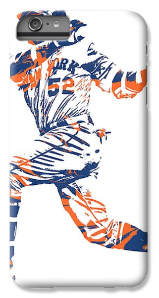 New York Mets iPhone 6 Plus Case - Yoenis Cespedes New York Mets Pixel Art 11 by Joe Hamilton