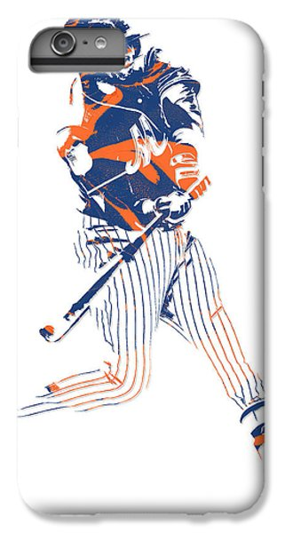 New York Mets iPhone 6 Plus Case - Yoenis Cespedes New York Mets Pixel Art 2 by Joe Hamilton