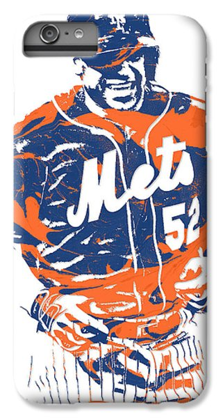 New York Mets iPhone 6 Plus Case - Yoenis Cespedes New York Mets Pixel Art 3 by Joe Hamilton