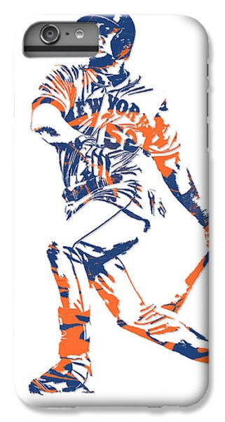 New York Mets iPhone 6 Plus Case - Yoenis Cespedes New York Mets Pixel Art 4 by Joe Hamilton