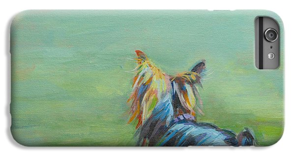 Yorkie In The Grass IPhone 6 Plus Case by Kimberly Santini