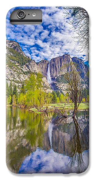 Yosemite Falls In Spring Reflection IPhone 6 Plus Case