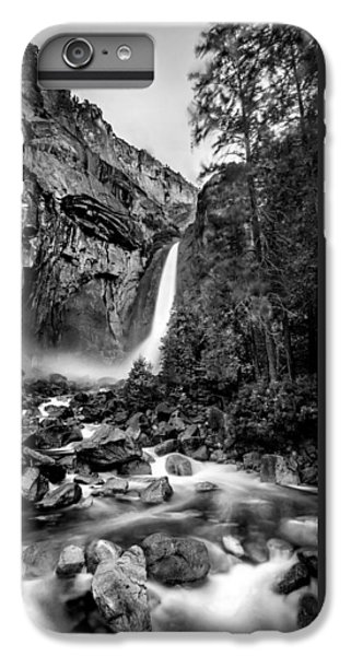 Yosemite Waterfall Bw IPhone 6 Plus Case