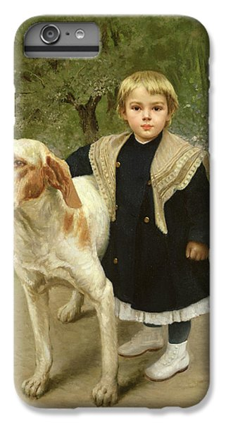 Young Child And A Big Dog IPhone 6 Plus Case