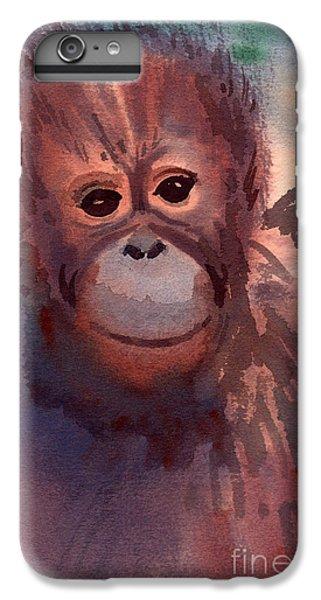 Young Orangutan IPhone 6 Plus Case by Donald Maier