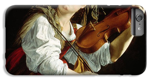 Music iPhone 6 Plus Case - Young Woman With A Violin by Orazio Gentileschi