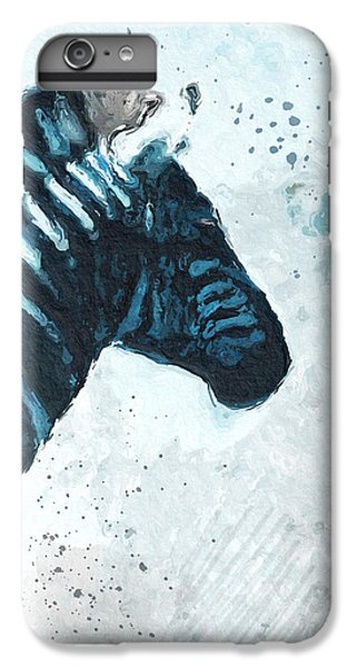 Zebra- Art By Linda Woods IPhone 6 Plus Case by Linda Woods