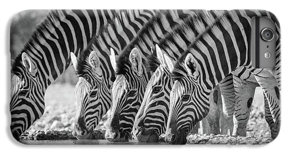 Zebras Drinking IPhone 6 Plus Case by Inge Johnsson