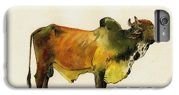 Zebu Cattle Art Painting IPhone 6 Plus Case by Juan  Bosco