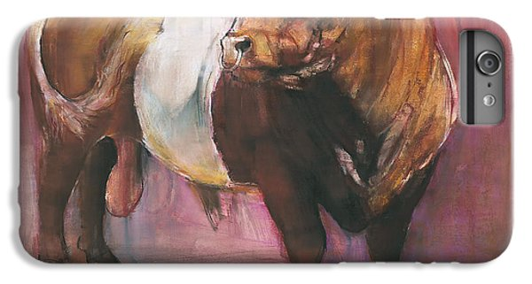 Zeus  Red Belted Galloway Bull IPhone 6 Plus Case by Mark Adlington