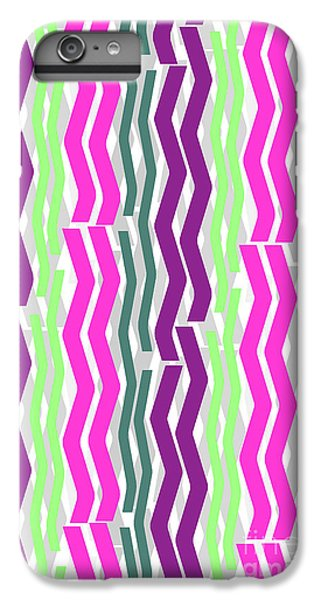 Zig Zig Stripes IPhone 6 Plus Case by Louisa Knight