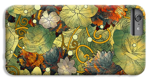 Floral iPhone 6 Plus Case - Seamless Pattern Of Colorful Flowers by Tithi Luadthong