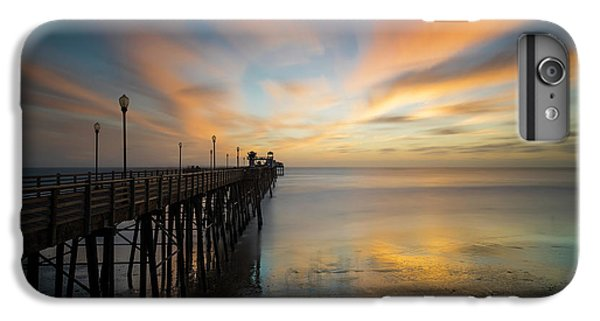 Pacific Ocean iPhone 6 Plus Case - Oceanside Pier Sunset by Larry Marshall