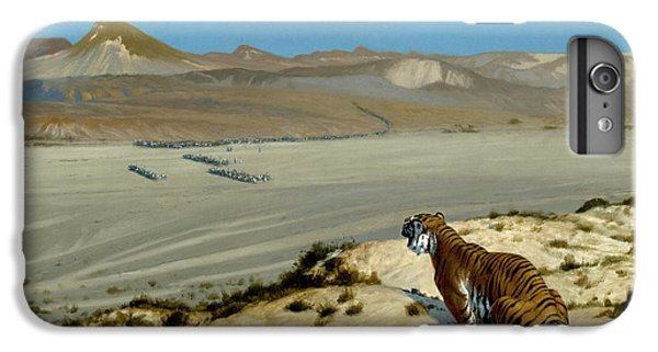 Barren iPhone 6 Plus Case - Tiger On The Watch by Jean Leon Gerome