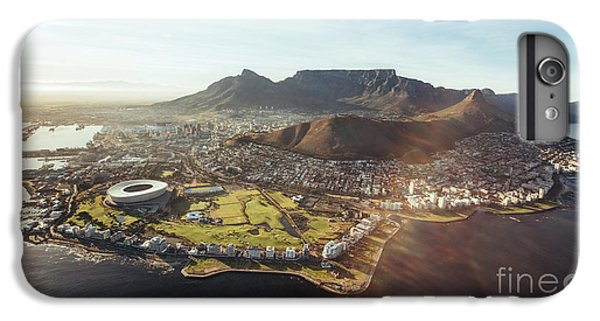 Lion Head iPhone 6 Plus Case - Aerial View Of Cape Town With Cape Town by Jacob Lund