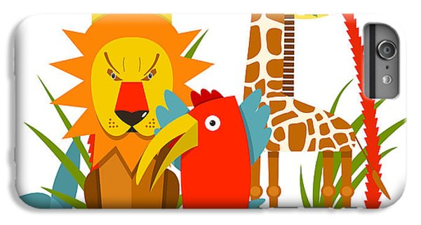Lion iPhone 6 Plus Case - African Animals. Giraffe Whale Lion by Popmarleo