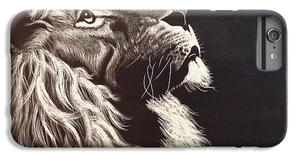 Lion Head iPhone 6 Plus Case - Aloofness Lion by ArtMarketJapan