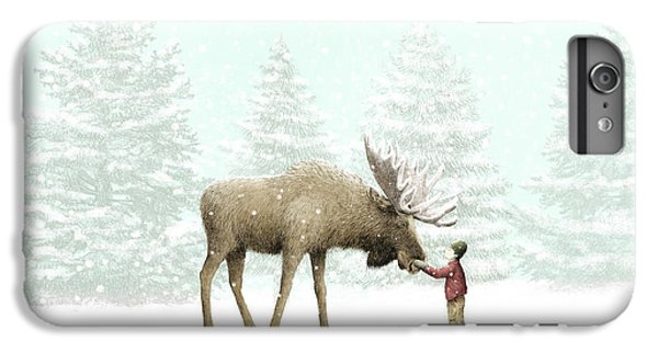 Nature iPhone 6 Plus Case - Winter Moose by Eric Fan