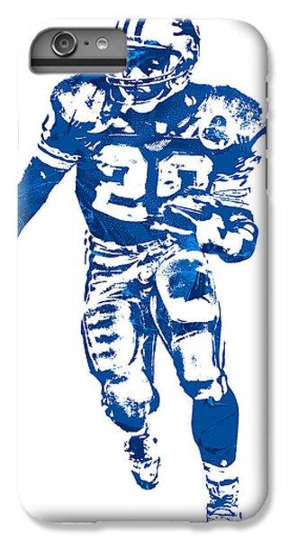 Lion iPhone 6 Plus Case - Barry Sanders Detroit Lions Pixel Art 30 by Joe Hamilton